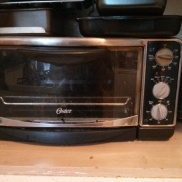 My humble toaster oven! Has definitely seen better days