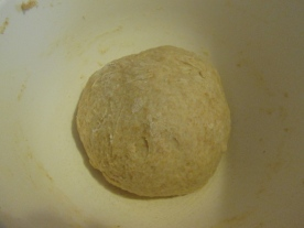 Kneaded dough, ready to rest