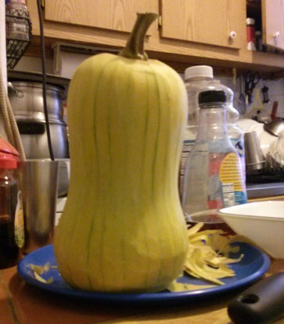 Peeled squashie!