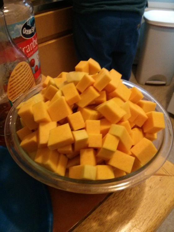 Chopped up squash