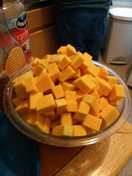 Chopped up squash