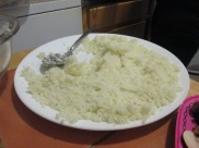 Cooling cauliflower rice
