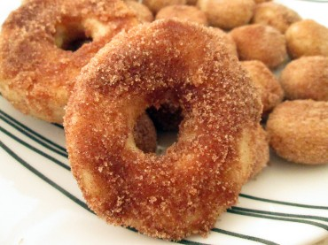 Dunked in butter and tossed in cinnamon sugar